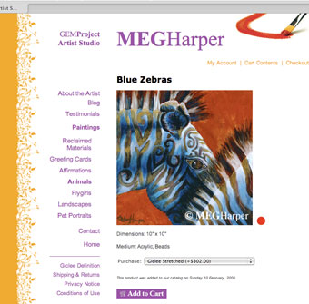 Meg Harper website