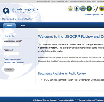 USGCRP Review and Comment System